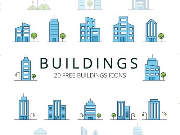 Set Of 20 High-quality Free Buildings Icons