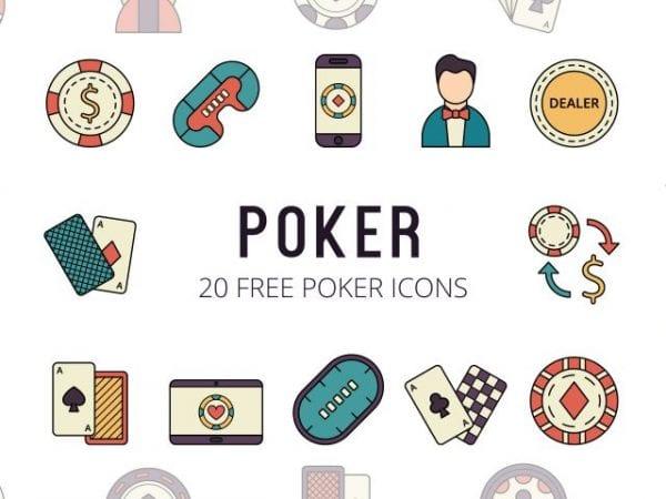 Set Of 20 High-resolution Free Poker Icon
