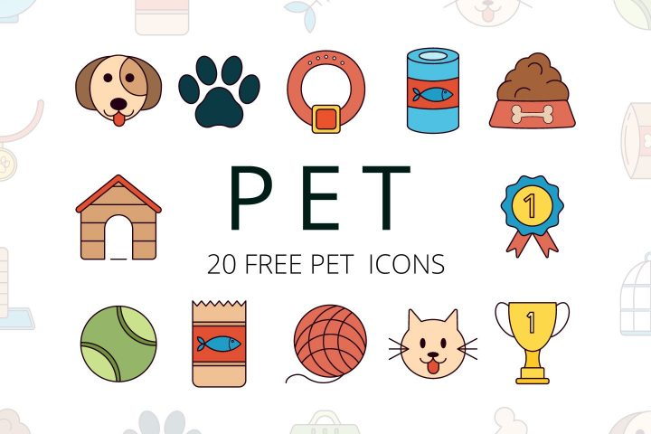 Set Of 20 Quality Free Pet Icons