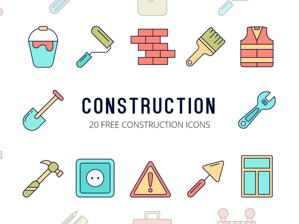 Set Of High-quality Free Construction Icons