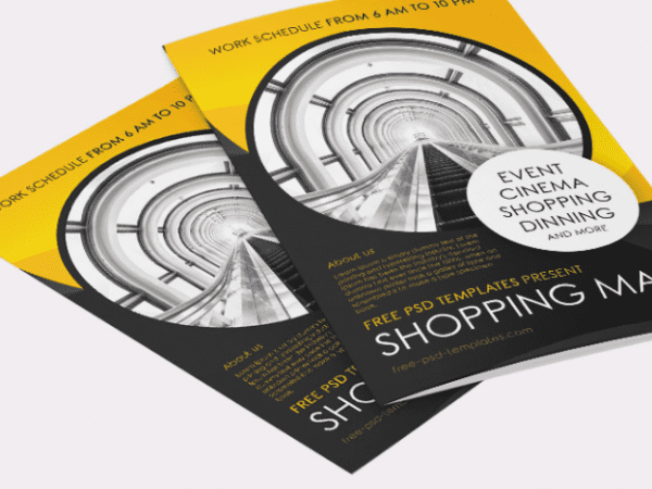 Shopping Mall Bi Fold Brochure Template