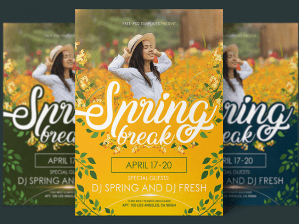 Spring Flyer PSD MockUp Template
