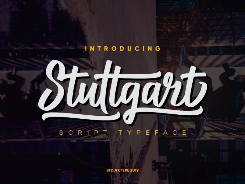 Stuttgart Calligraphy Script Font