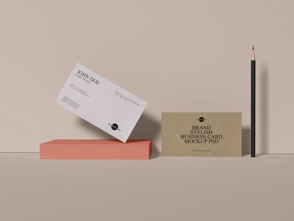 Stylish Business Card Mockup PSD Template