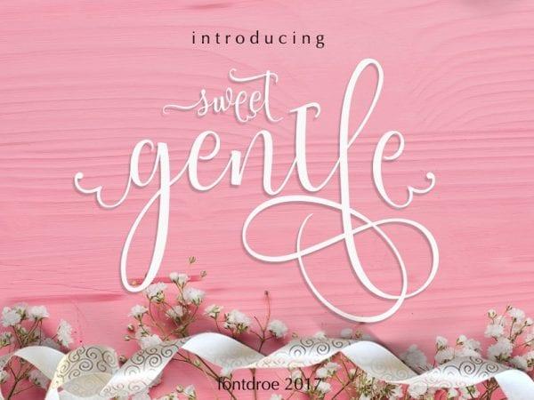 Sweetgentle Handmade Calligraphy Font