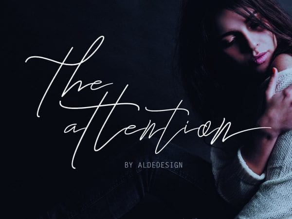 The Attention Signature Script Font