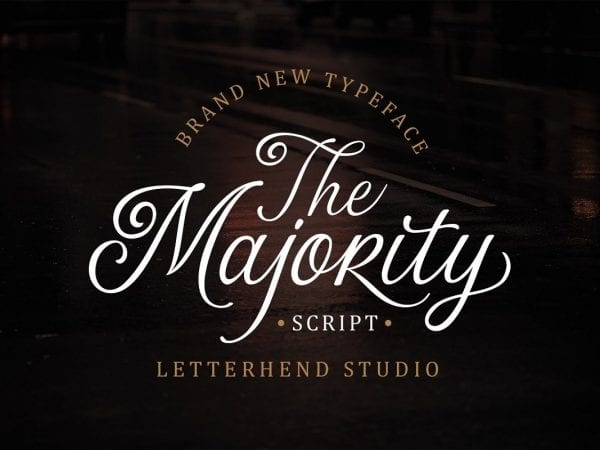 The Majority Calligraphy Script Font