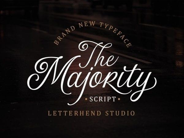 The Majority Calligraphy Script Font