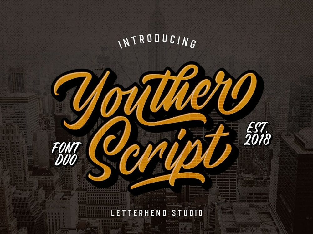 Youther Calligraphy Brush Script Font