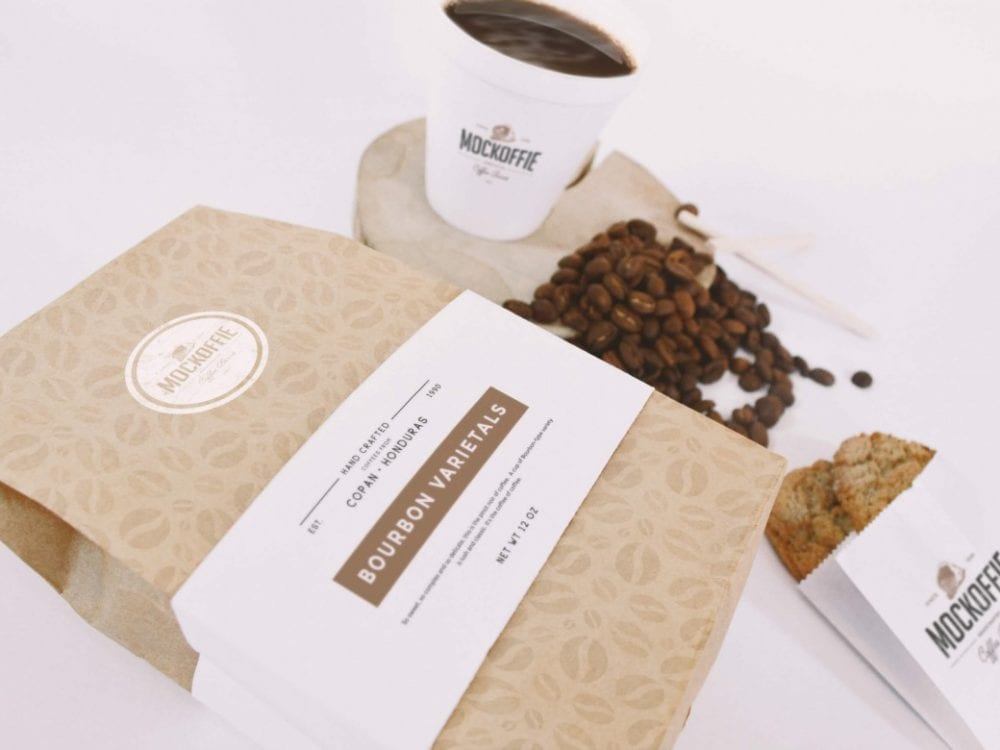 08-coffee-bag-and-cup-mockup-perspective-top-view-1170x780