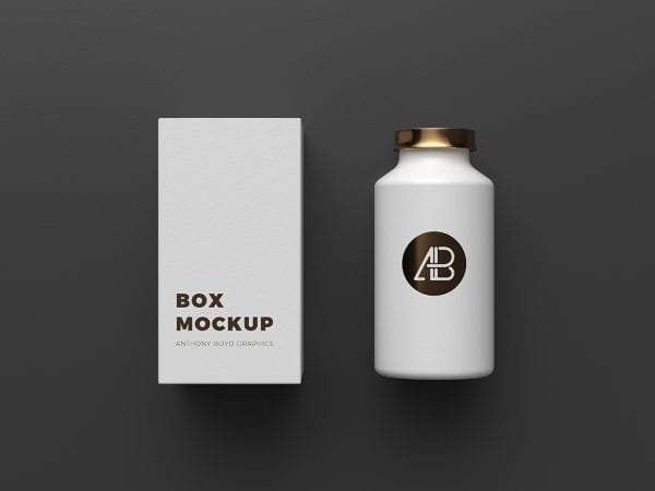 Copper Foil Bottle Packaging Mockup by Anthony Boyd Graphics