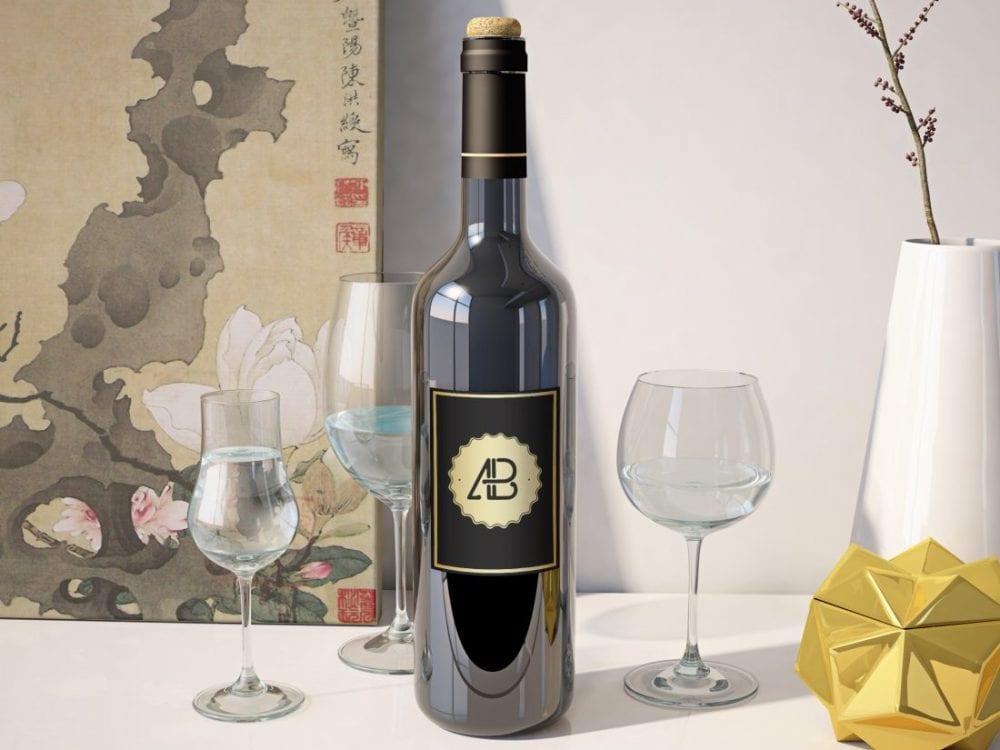 5c32938132c187029005a59b Realistic Wine Bottle Mockup Anthony Boyd