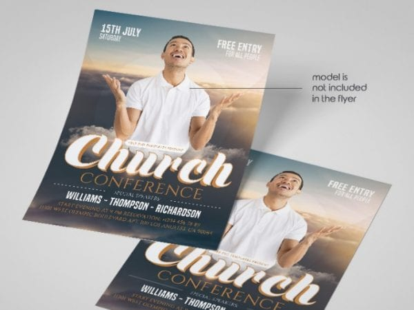 Free Church Conference Flyer in PSD Free PSD Templates
