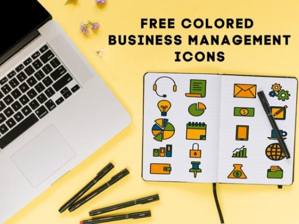 Free Colored Business Management Icons Free PSD Templates