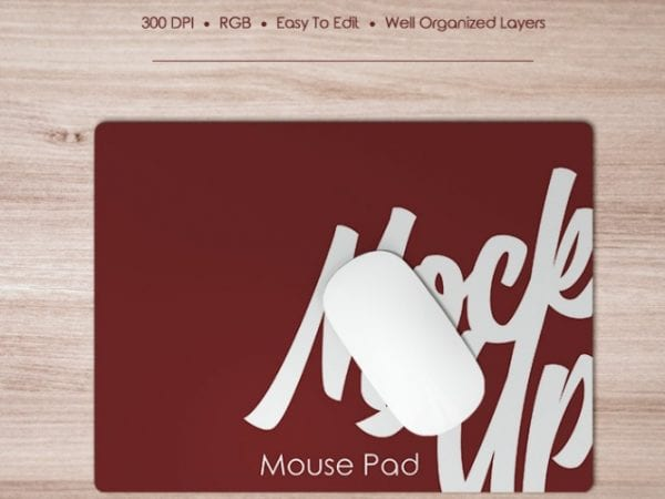 Free Mouse Pad Mock up in PSD Free PSD Templates