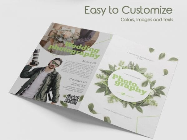 Free Photography Bi Fold Brochure in PSD Free PSD Templates