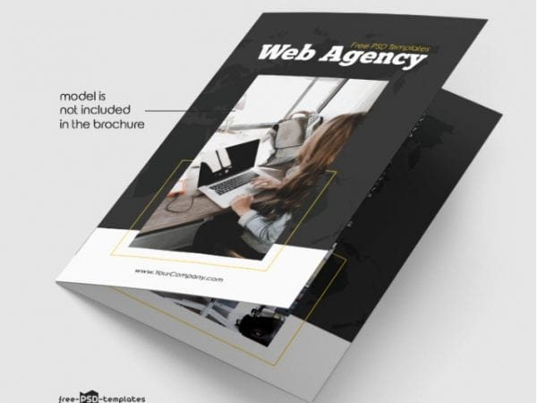 Free Web Agency Bi Fold Brochure in PSD Free PSD Templates (2)