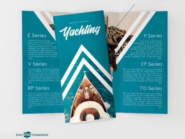 Free Yachting Tri Fold Brochure in PSD Free PSD Templates