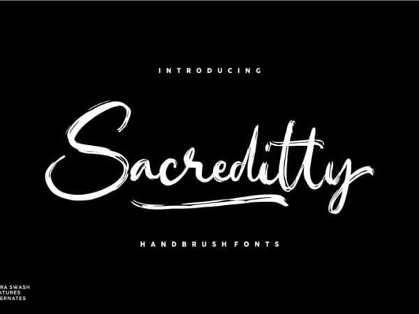 Sacreditty Handbrush Font