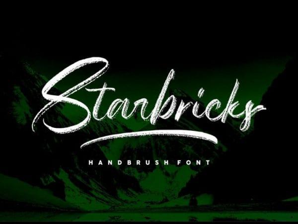 Starbricks Handbrush Font