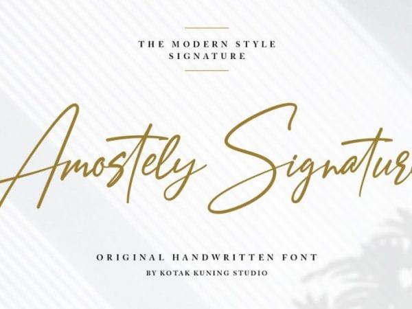amostely-signature-font