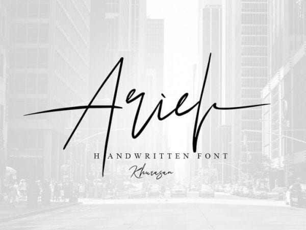 ariel-signature-font