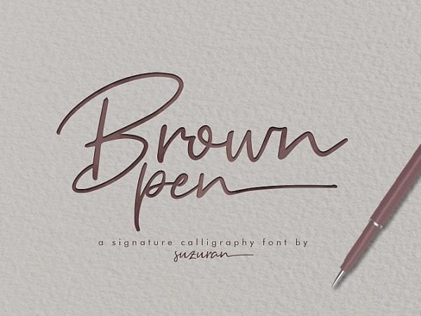 brown-pen-signature-font