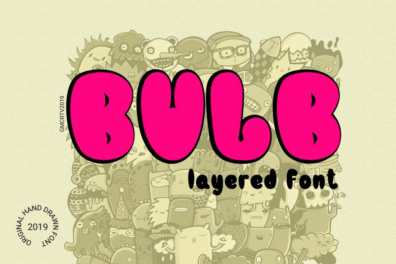 bulb-typeface
