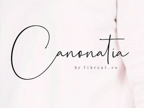 canonatia-handwritten-font