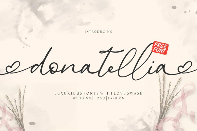donatellia free signature font