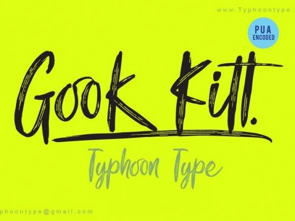 gook-kitt-brush-font