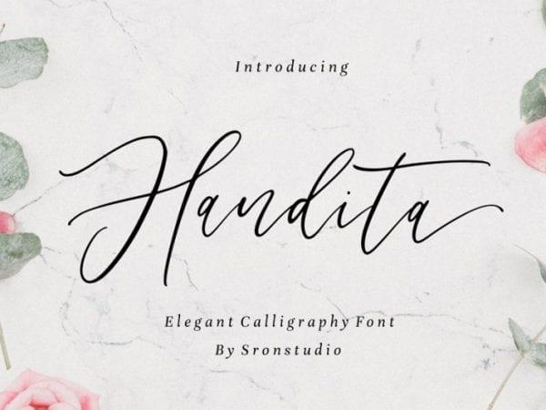 handita-calligraphy-font
