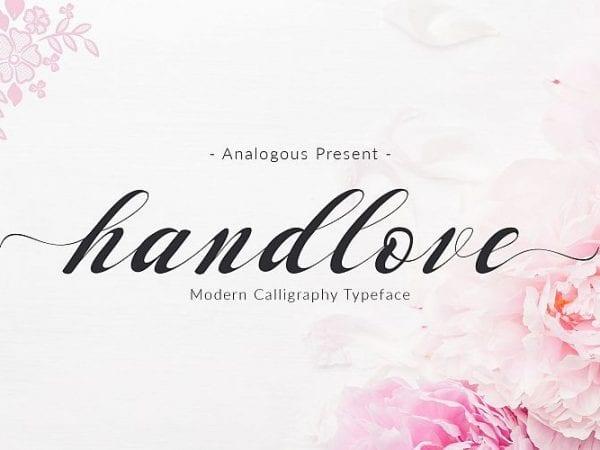 handlove-script-font