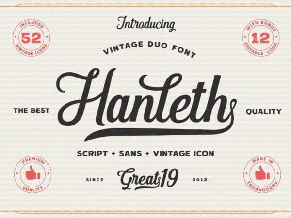 hanleth-vintage-font-duo
