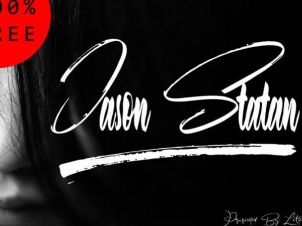 jason-statan-handbrush-font