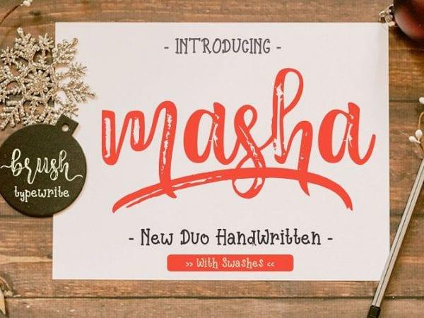 masha-handlettered-font