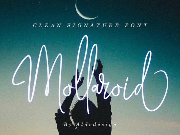 mollaroid-signature-font