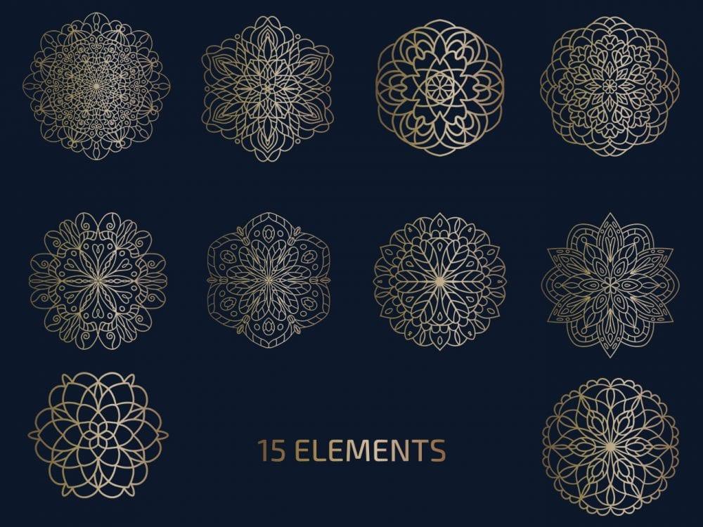 pv_free_Free_Vector_Mandala_Logo_Elements