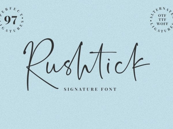 rushtick-signature-font