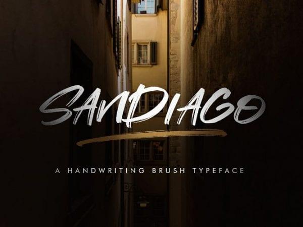 sandiago-brush-font