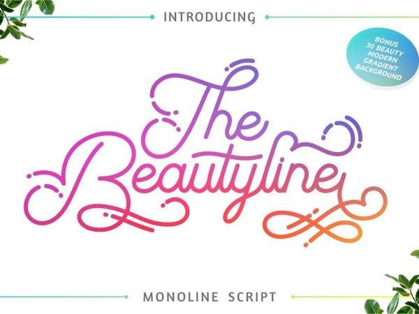 the-beautyline-script-font