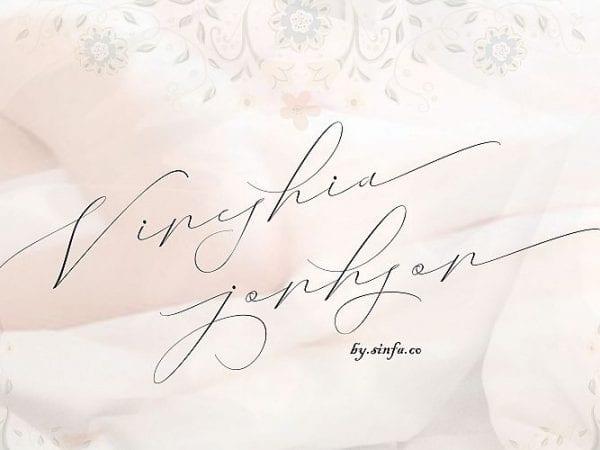 vineshia-jonhson-handwritten-font