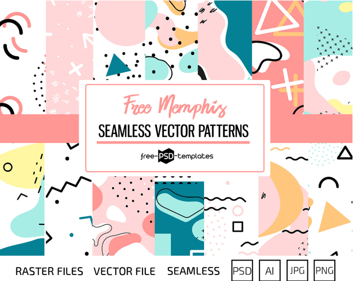 Free Set of Memphis Vector Patterns