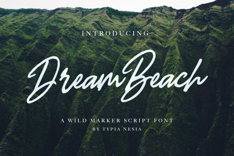 dream-beach-free-script-font