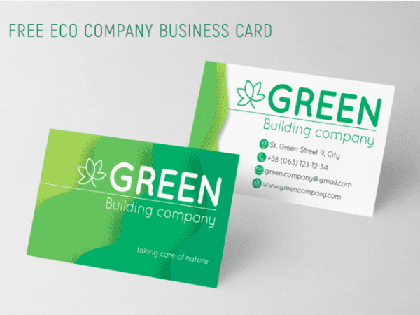 eco business free business card