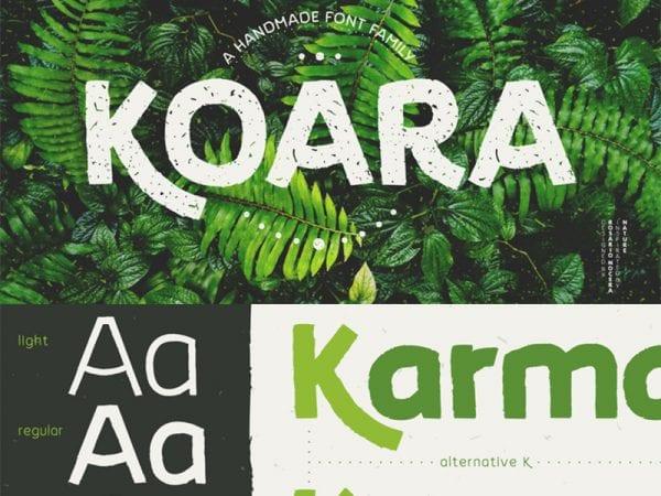 koara family font