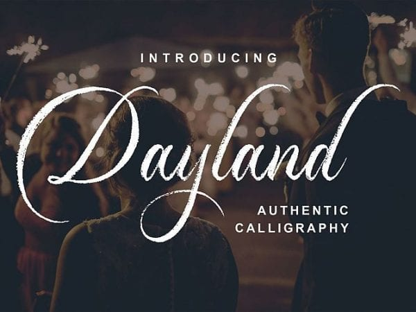 dayland-calligraphy-font