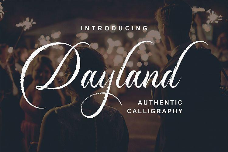 dayland-calligraphy-font