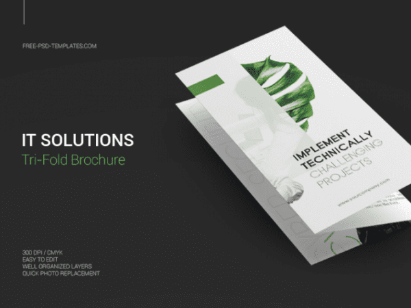 it solution psd brochure