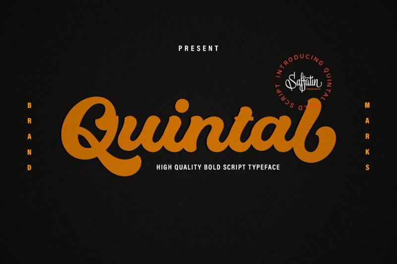 quintal-bold-script-font
